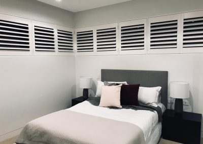 Image of Shutter panels in bedroom