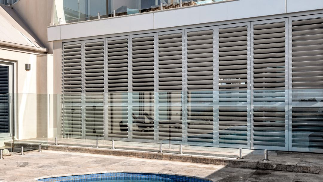 Image of installed aluminium shutters