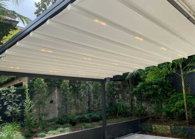 Image of a Shade Design installed roof system